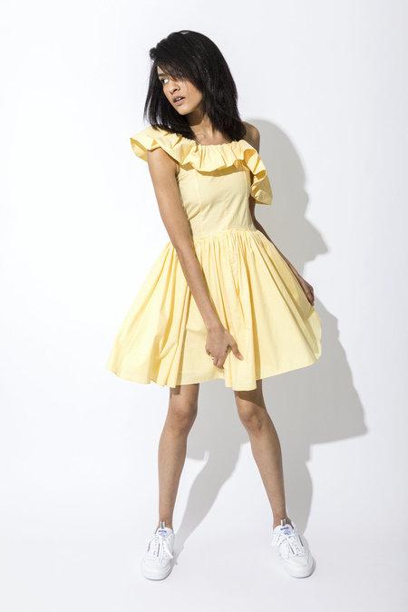 Pamplemousse NY Daisy Dress - YELLOW