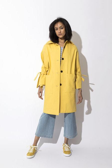 Pamplemousse NY Daphne Coat - Yellow