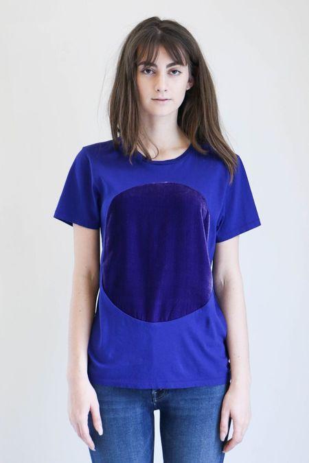 Correll Correll Velvet Circle T-Shirt - Purple