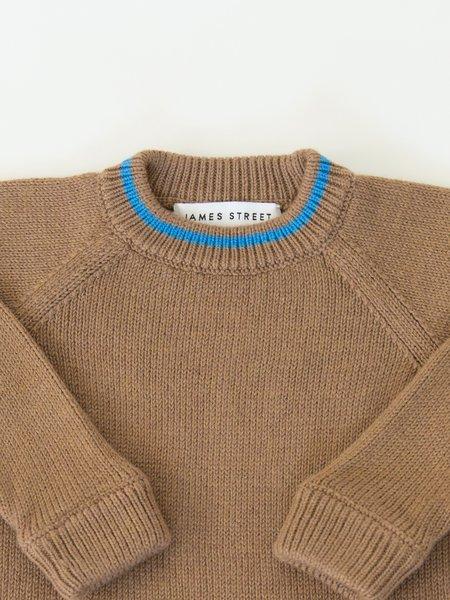 KIDS James Street Co Uniform Raglan Sweater - Camel