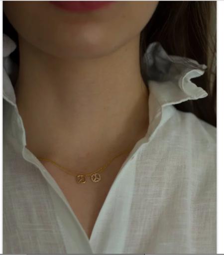 Hortense Peace Necklace - 14K Rose Gold
