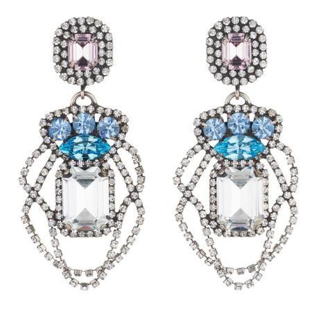 Dannijo Xenia Earrings - BLUE & LILAC CRYSTAL