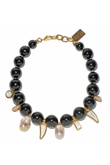 Lizzie Fortunato Evora Necklace - BLACK AGATE
