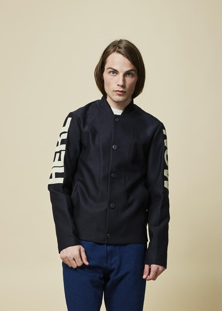 Homecore Geb Button Up Jacket - navy