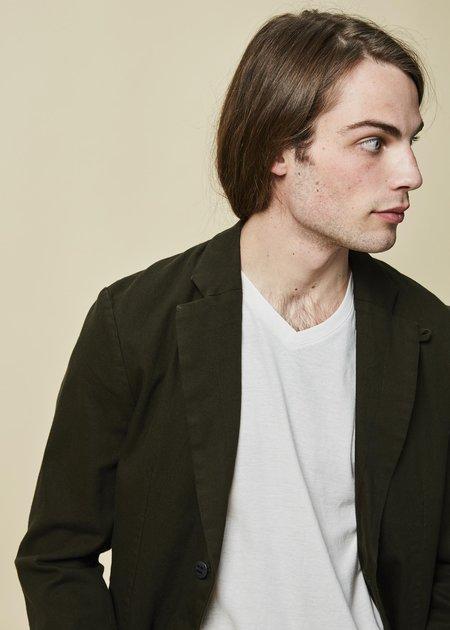 Hannes Roether Vida Cotton Blazer - Dark Green