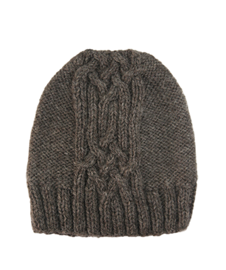 Kordal Cable Knit Hat - Fog Grey