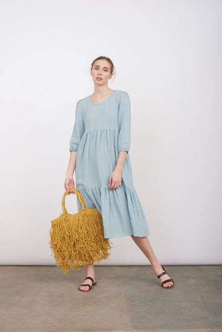 Justine Tabak Linen petticoat lane dress - cloud blue
