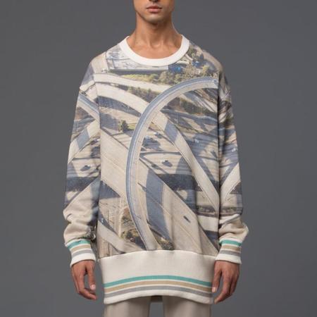 GARCIAVELEZ Highway Print Oversized Crew Sweatshirt