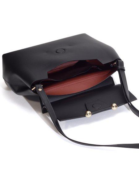 IMAGO-A Carre Shoulder Bag with Metal Beads