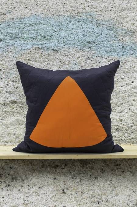Ray Quilts Fearless Tiger Euro Pillow - CHARCOAL/CARROT