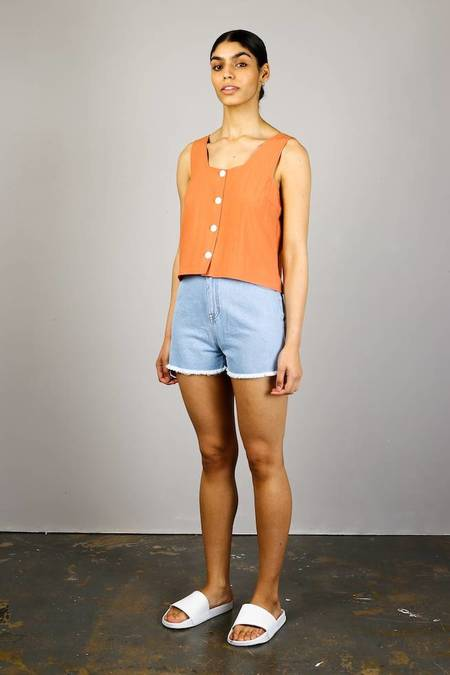 Native Youth Button Front Cami - Peach