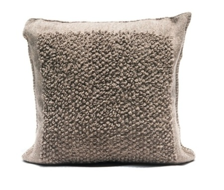 Mexchic Boucle Cotorin Texture Wool Floor Pillow - Grey