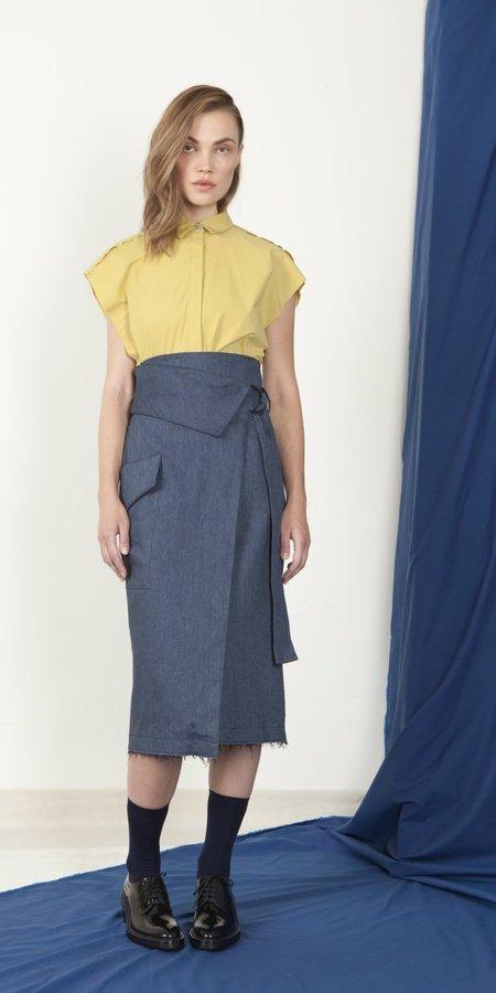 Schai Cargo Wrap Skirt - Ink Denim
