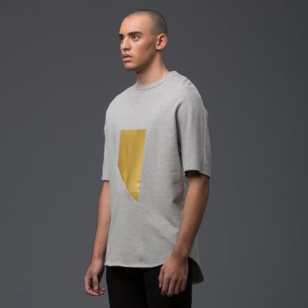 GARCIAVELEZ Gray and Gold Square Oversized Sweatshirt
