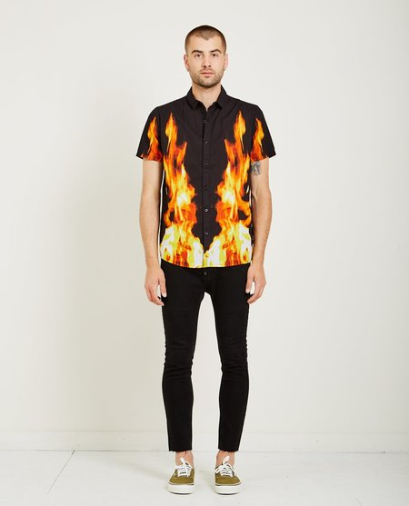 Rollas BON SHIRT - BLACK FIRE