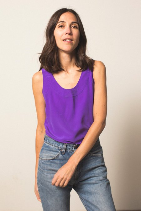 Preservation Silk Tank Top - Purple