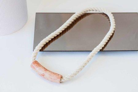 YYY Tube Necklace - Peach