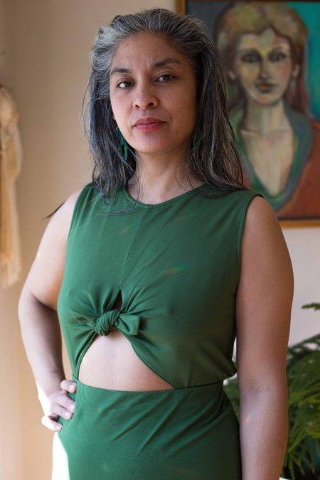 Eve Gravel Wildflower Dress - Green Jersey