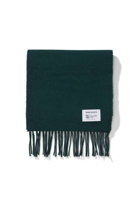 Norse x Johnstons Lambswool Scarf - Moss