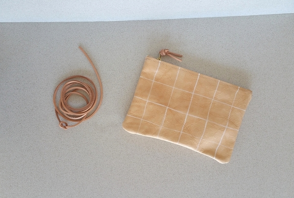 Pine and Boon White Grid Clutch