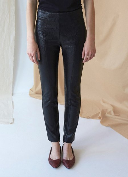 Intropia Leather Effect Pan Trouser - Black