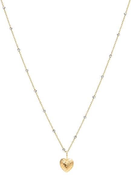 PHYLLIS AND ROSIE Phyllis & Rosie Double Face Heart Necklace - Gold