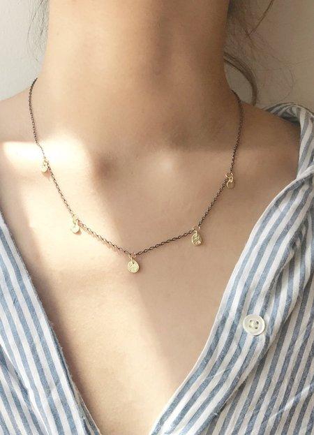 Nicole Kwon Station Necklace with Kelp