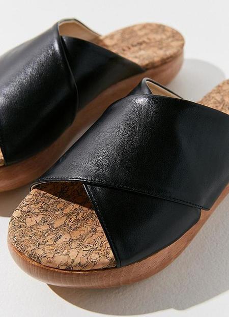 Sydney Brown Cross Slide - BLACK