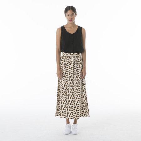 Ali Golden Drawstring Skirt - Guaq Print