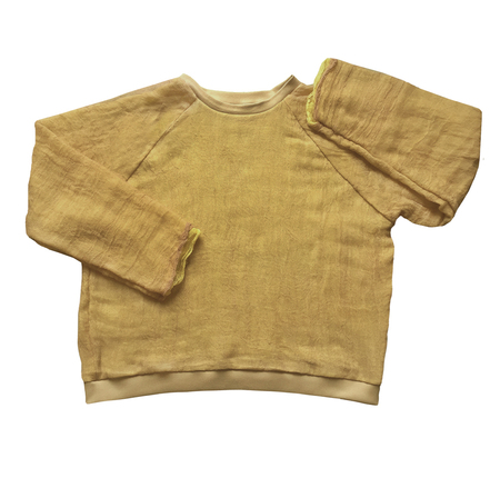 Halo Labels GAUZE sweatshirt - YELLOW