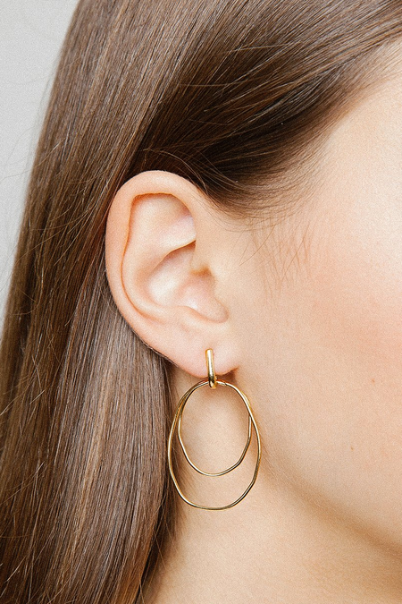 Wolf Circus Camilla Hoops - Gold
