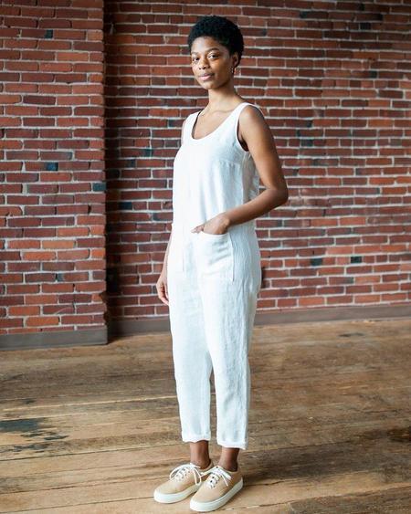 Backtalk PDX Marty Jean Linen Jumpsuit - White