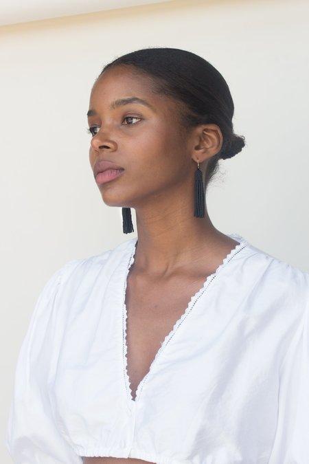 Zartiztry Tassel Earrings - Black