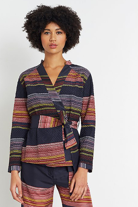 Apiece Apart Silk Wrap Jacket