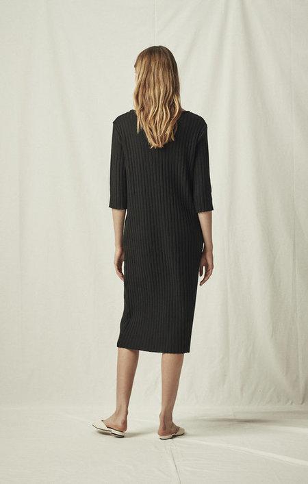 Mijeong Park Ribbed Midi Dress - Black