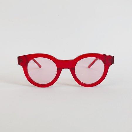 Unisex Sun Buddies Edie Sunglasses - Transparent Red