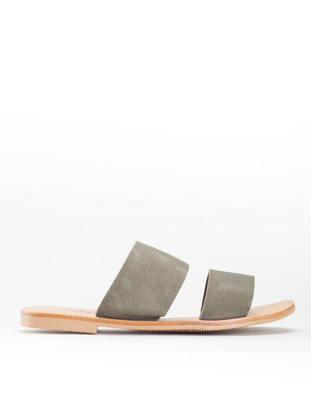 St. Agni Keiko Double Strap Slides - Olive