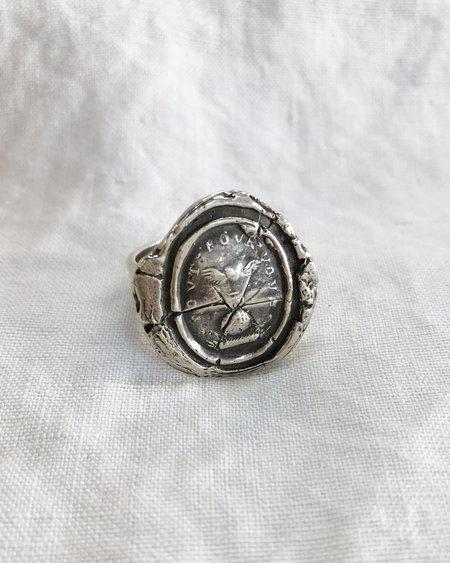 Pyrrha Winged Heart Ring - Silver