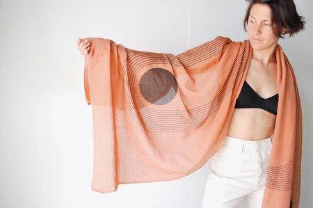 Block Shop Textiles Sunwave Scarf - Orange