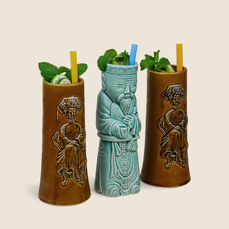 Vintage The Tabu Shop San Francisco Tiki Mug Set