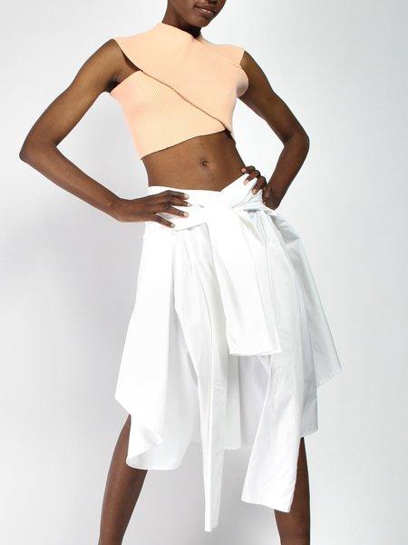House of 950 Skirt Shirt - White