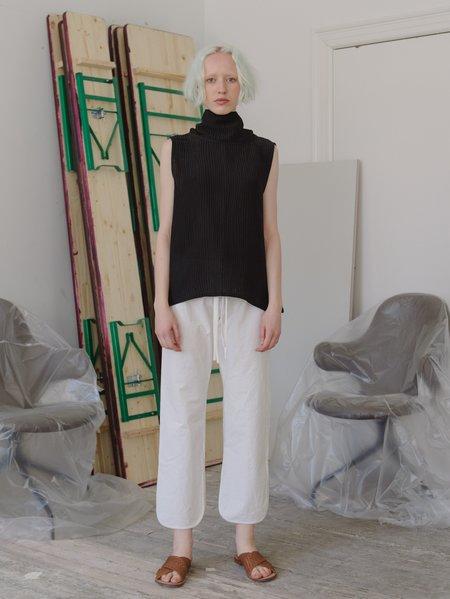 Priory Cati Top - Silk Linen Black