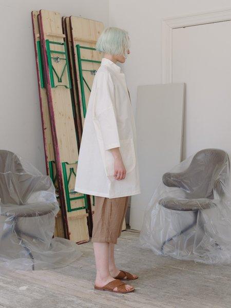 Priory Shop Range Stretch Poplin Jacket - White