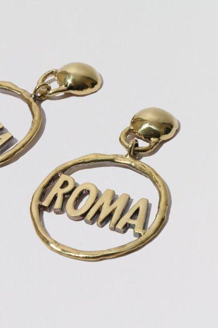 Mondo Mondo Roma Earrings - Brass