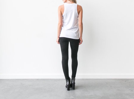 BRUNETTE The Label Brunette Crew Neck Tank - White