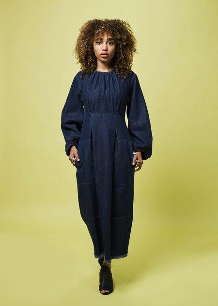 Happy Haus Denim Bohemia Dress - dark indigo