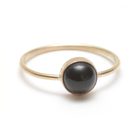Favor Gumdrop Ring - Black Onyx Gemstone