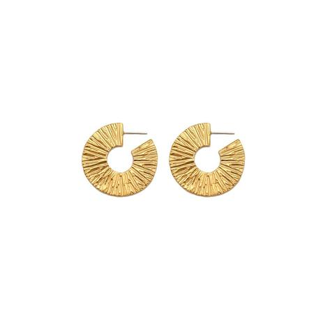Alexandra Dodds Disc Hoops - Gold