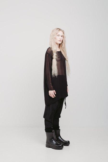 Lela Jacobs Nod Long Top - Black