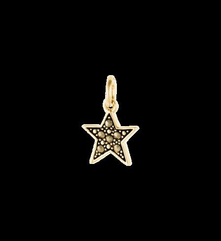 Kirstin Ash Star Marcasite Charm - Gold